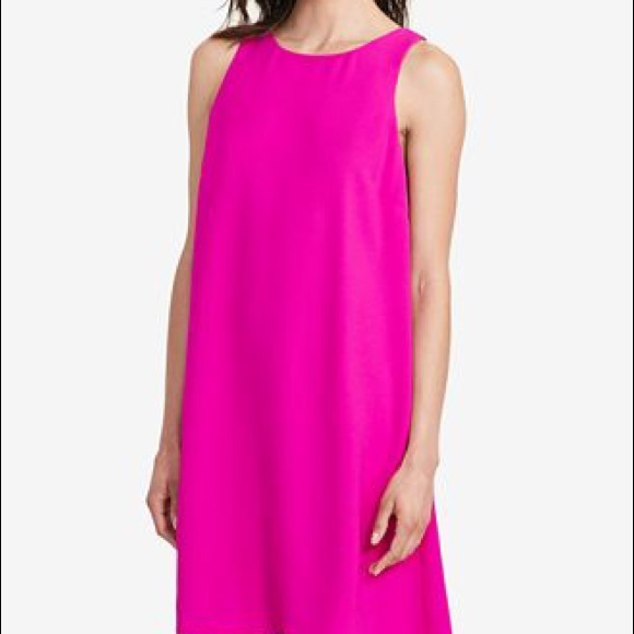 Ralph Lauren Magenta Shift Dress Plus Size